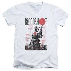 Bloodshot Shirt Slim Fit V-Neck Tech White T-Shirt