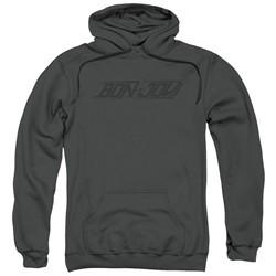Bon Jovi Hoodie New Logo Charcoal Sweatshirt Hoody