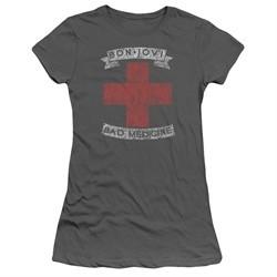 Bon Jovi Juniors Shirt Bad Medicine Charcoal T-Shirt