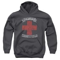 Bon Jovi Kids Hoodie Bad Medicine Charcoal Youth Hoody