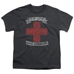 Bon Jovi Kids Shirt Bad Medicine Charcoal T-Shirt