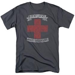Bon Jovi Shirt Bad Medicine Charcoal Tall T-Shirt