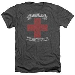 Bon Jovi Shirt Bad Medicine Heather Charcoal T-Shirt