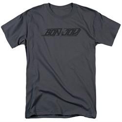 Bon Jovi Shirt New Logo Charcoal T-Shirt