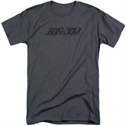 Bon Jovi Shirt New Logo Charcoal Tall T-Shirt