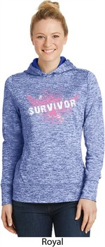 Breast Cancer Awareness Survivor Wings Ladies Moisture Wicking Hoodie