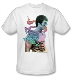 Bruce Lee Kids T-shirt Youth Little Bruce Dragon White
