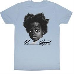 Buckwheat Shirt Little Rascals Lil Wheat Adult Light Blue Tee T-Shirt