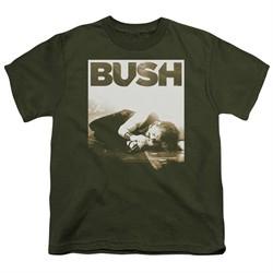 Bush Kids Shirt Floored Military Green T-Shirt