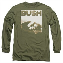 Bush Long Sleeve Shirt Floored Military Green Tee T-Shirt