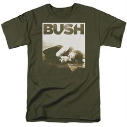 Bush Shirt Floored Military Green T-Shirt