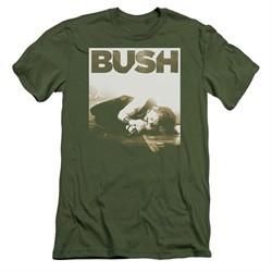 Bush Slim Fit Shirt Floored Military Green T-Shirt