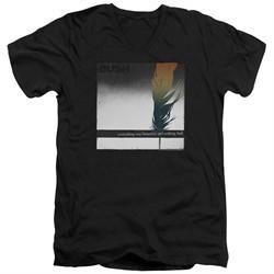 Bush Slim Fit V-Neck Shirt Feather Black T-Shirt