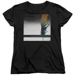 Bush Womens Shirt Feather Black T-Shirt