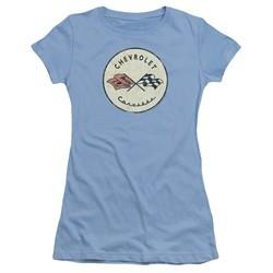 Chevy Juniors Shirt Old Vette Carolina Blue T-Shirt
