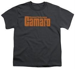Chevy Kids Shirt Camaro Command Performance Charcoal T-Shirt