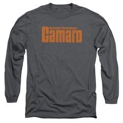 Chevy Long Sleeve Shirt Camaro Command Performance Charcoal Tee T-Shirt