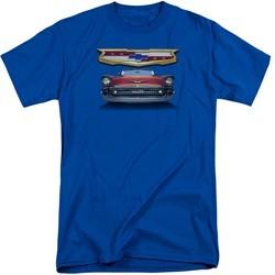 Chevy Shirt 1957 Bel Air Grille Tall Royal Blue T-Shirt
