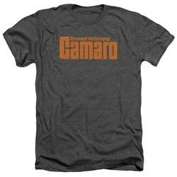 Chevy Shirt Camaro Command Performance Heather Charcoal T-Shirt
