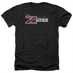 Chevy Shirt Camaro Z28 Logo Heather Black T-Shirt