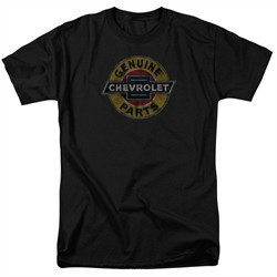 Chevy Shirt Genuine Parts Distressed Sign Black T-Shirt
