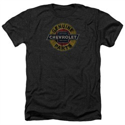 Chevy Shirt Genuine Parts Distressed Sign Heather Black T-Shirt