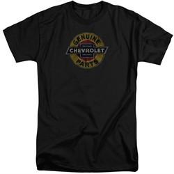 Chevy Shirt Genuine Parts Distressed Sign Tall Black T-Shirt