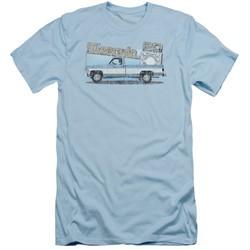 Chevy Slim Fit Shirt Silverado Light Blue T-Shirt