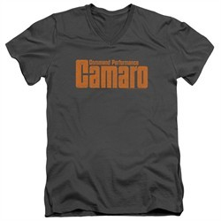Chevy Slim Fit V-Neck Shirt Camaro Command Performance Charcoal T-Shirt