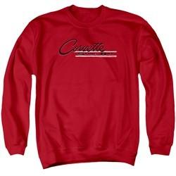 Chevy Sweatshirt Retro Stingray Adult Red Sweat Shirt