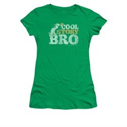Chilly Willy Shirt Juniors Cool Story Kelly Green Tee T-Shirt