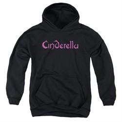 Cinderella Youth Hoodie Scratched Logo Black Kids Hoody