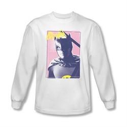 Classic Batman Shirt Batman Portrait Long Sleeve White Sweatshirt