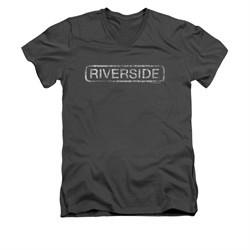 Concord Music Group Shirt Slim Fit V-Neck Riverside Charcoal T-Shirt