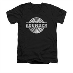 Concord Music Group Shirt Slim Fit V-Neck Rounder Retro Black T-Shirt