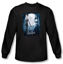 Corpse Bride Long Sleeve T-Shirt Warner Bros Movie Poster Black Shirt