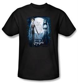 Corpse Bride Kids T-Shirt Warner Bros Movie Poster Black Youth Shirt