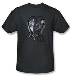Corpse Bride T-Shirt Warner Bros Runaway Groom Charcoal Tee Shirt