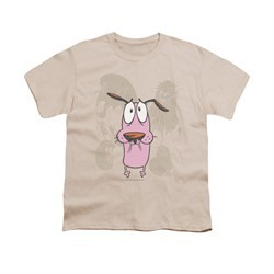 Courage The Cowardly Dog Shirt Kids Monsters Cream Youth Tee T-Shirt