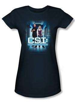 CSI Juniors T-shirt Serious Business Navy Tee