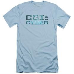 CSI Cyber Shirt Slim Fit Logo Light Blue T-Shirt