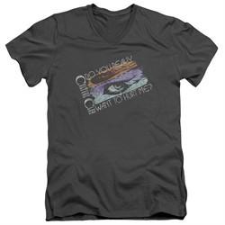 Culture Club Slim Fit V-Neck Shirt Hurt Me Charcoal T-Shirt