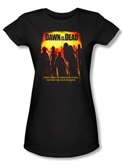 Dawn Of The Dead Juniors T-shirt Title Logo Black Tee Shirt