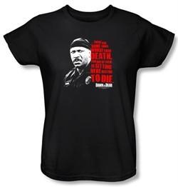 Dawn Of The Dead Ladies T-shirt Movie Worse Than Death Black Tee Shirt