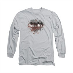 Dawn Of The Dead Shirt Creeping Shadows Long Sleeve Silver Tee T-Shirt