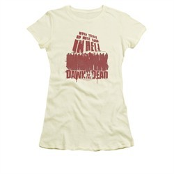 Dawn Of The Dead Shirt Juniors No More Room Cream Tee T-Shirt