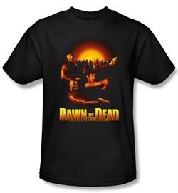 Dawn Of The Dead T-shirt Movie Dawn Collage Adult Black Tee Shirt