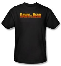 Dawn Of The Dead T-shirt Movie Dawn Logo Adult Black Tee Shirt