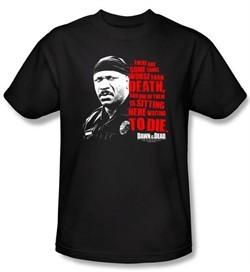 Dawn Of The Dead T-shirt Movie Worse Than Death Adult Black Tee Shirt