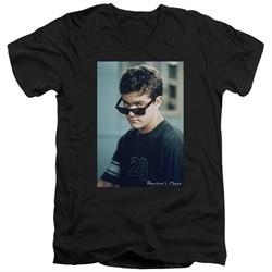Dawson's Creek Slim Fit V-Neck Shirt Cool Pacey Black T-Shirt